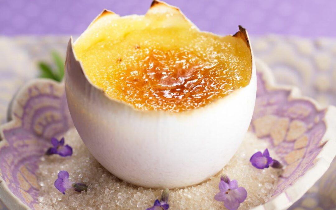 Crème Brulée mit Herbaria Lavendelblüten