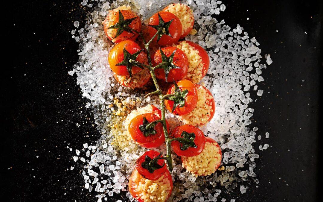 Gebackene Kirschtomaten mit Couscous und Herbaria Ruf der Oase